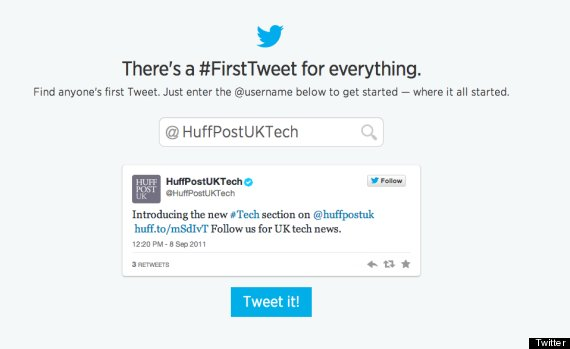 how to see users first tweet