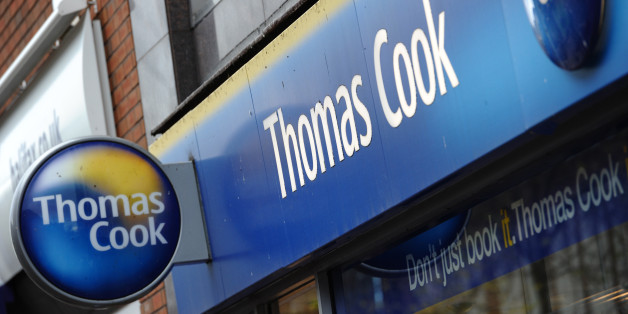 A branch of Thomas Cook is pictured in Birkenhead, in north-west England, on November 22, 2011. Shares in Thomas Cook crashed 67 percent on Tuesday as the British travel firm said it was renegotiating its debts and delaying the group's annual results after a sharp deterioration in business. Thomas Cook's share price slumped 67.19 percent to 13.48 pence in midday trade on London's second-tier FTSE 250 shares index. AFP PHOTO / PAUL ELLIS (Photo credit should read PAUL ELLIS/AFP/Getty Images)