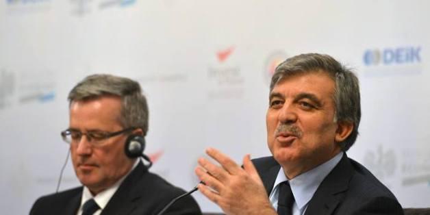 Le Président turque, Abdullah Gül, au forum d'affaires Turquie-Pologne le 7 mars 2014