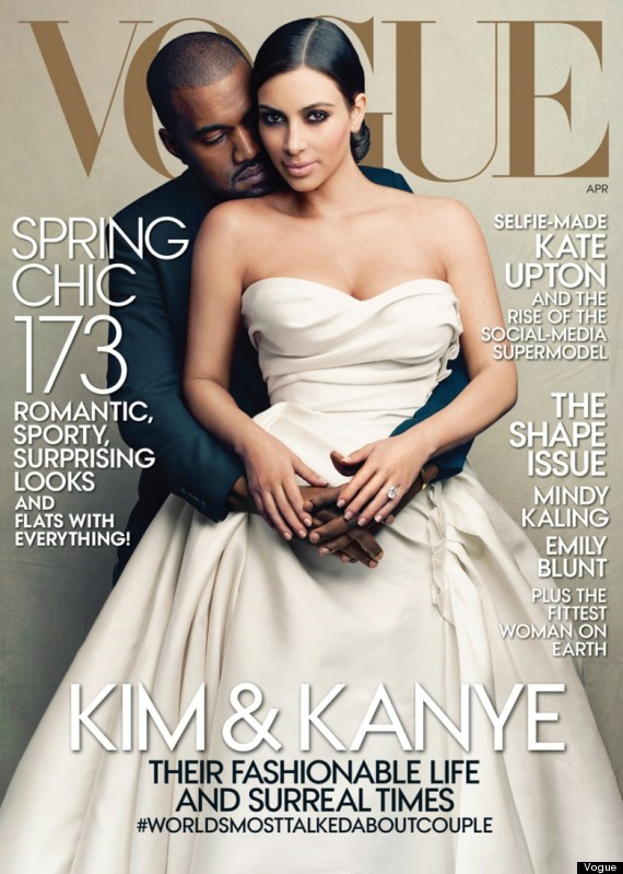 kim and kanye vogue