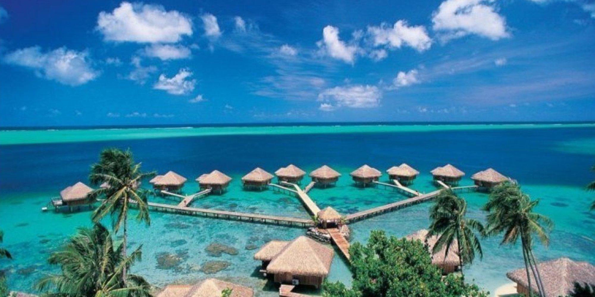 Hana Iti Beach, Huahine Island, Tahiti без смс
