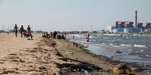 Photo des usines sur la route de Radès à Hammam-Lif