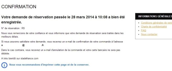 confirmation achat