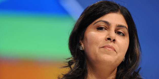 Conservative Party co-chairman Baroness Warsi, opens the first session of the Conservative Party Conference at Manchester Central, Manchester.