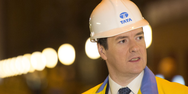 PORT TALBOT, WALES - MARCH 25:  Chancellor George Osborne during a visit to Tata Steel to see how it has been affected by the budget on March 25, 2014 in Port Talbot, Wales. In the Chancellor's budget statement last week he announced support for energy intensive manufacturing, Tata's Port Talbot factory is the largest steel plant in the UK, producing five million tonnes of steel annually and employs over 4,000 people.  (Photo by Matthew Horwood - WPA Pool / Getty Images)