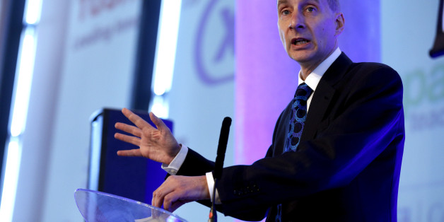 Lord Andrew Adonis, Honorary President of the Independent Academies Association, addresses the organisation's autumn conference at the Emirates Stadium, London.