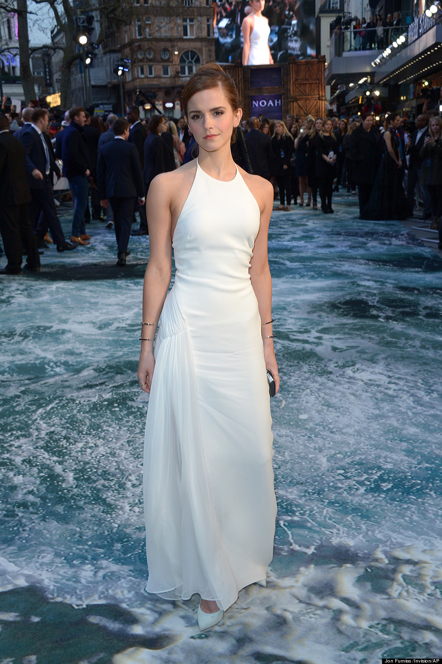 Emma Watson Gets Leggy Wit\' It In Stunning White Dress At \'Noah ...