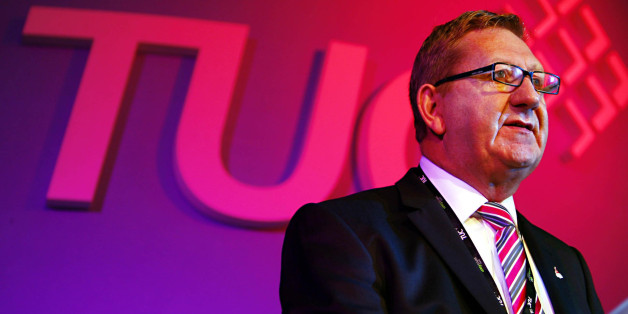 Leader of Unite Len McCluskey addresses delegates at the TUC Congress at Congress house London.