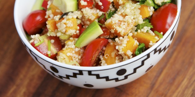 ** FOR USE WITH AP WEEKLY FEATURES ** Santa Fe-style quinoa salad, shown in this March 19, 2007 photo,  makes use of quinoa, a mild-flavored, gluten-free starch from South America where it has been cultivated for centuries. (AP Photo/Larry Crowe)