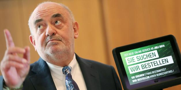 Kaufhof-Chef Lovro Mandac bei der Tablet-Präsentation in Köln