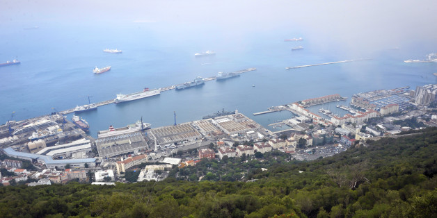 A general view of the harbour and Royal Navy Base at Gibraltar.