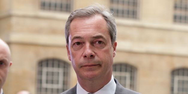 Ukip leader Nigel Farage arriving at BBC Broadcasting House, London, for his second televised debate with Deputy Prime Minister Nick Clegg.