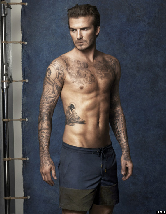 David Beckham Strips Off For New H&M 'Bodywear' Swimwear Campaign (PICS)