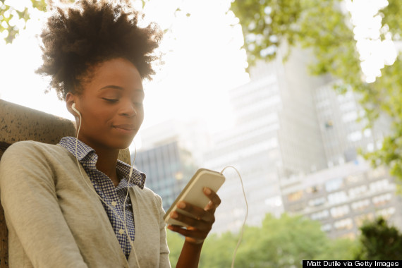 black woman phone