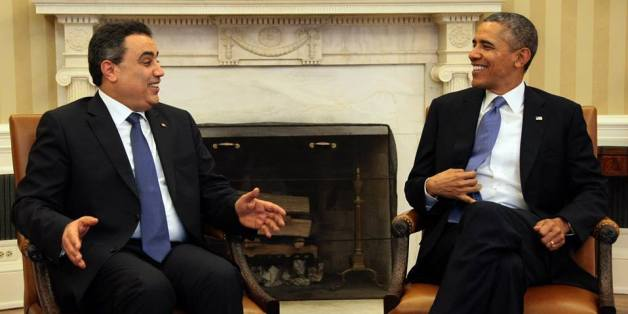 Le chef du gouvernement tunisien Mehdi Jomâa et le Président américain Barack Obama, à la maison Blanche, 4 avril 2014