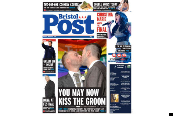 bristol post front page