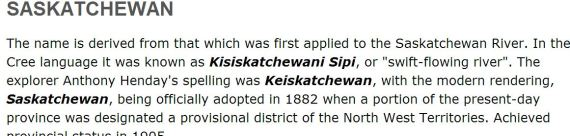 saskatchewan spelled wrong