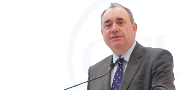 Alex Salmond delivering the inugural Caledonian lecture at the University's New York campus on Monday