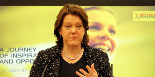 Secretary of State Maria Miller at the launch of a strategy to get more women cycling.