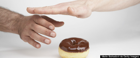 reaching for donut