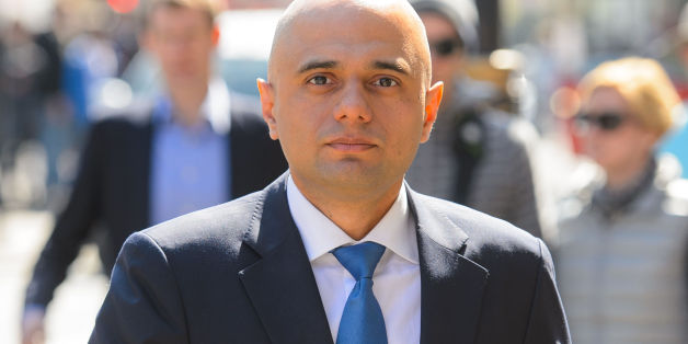 New Culture Secretary Sajid Javid arrives at the Department of Culture, Media and Sport, in Westminster, central London.