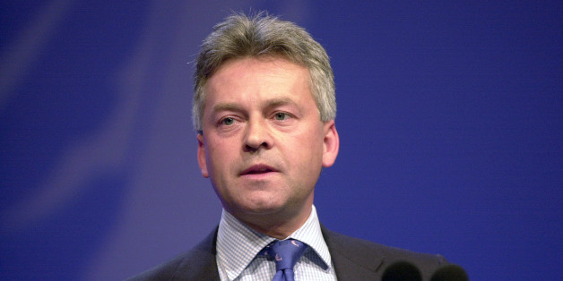 Alan Duncan speaking at the Conservative Party Conference in Blackpool Monday 8th October 2001. Conservative MP Rutland and Melton.. (Photo by Jeff Overs/BBC News & Current Affairs via Getty Images)