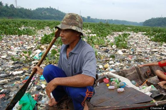 rubbish river