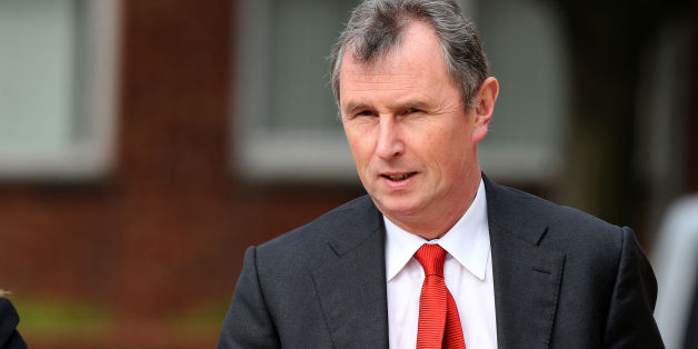 Former deputy speaker of the House of Commons Nigel Evans arrives at Preston Crown Court where he faces nine charges, dating from 2002 to April 1, last year of sexual offences against seven men.
