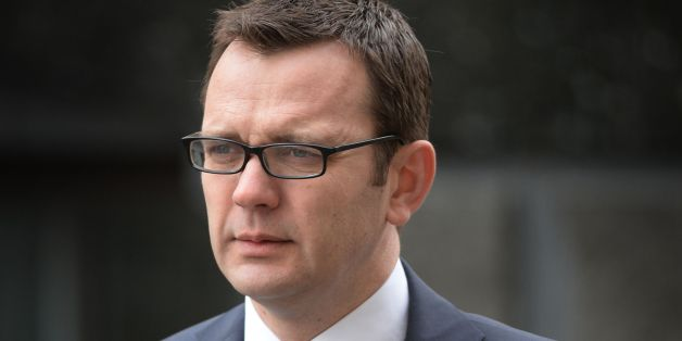 Former News of the World editor Andy Coulson arrives at the Old Bailey in London, as the phone hacking trial continues.