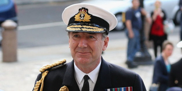 LONDON, ENGLAND - MAY 08:  Admiral Sir George Zambellas, the First Sea Lord and Chief of the Naval Staff, arrives at St. Paul's cathedral before a service to mark the 70th anniversary of the battle of the Atlantic on May 8, 2013 in London, England. The 'Battle of the Atlantic' was the longest continuous military campaign of World War II;  thousands of merchant ships were sunk and tens of thousands of lives were lost.  (Photo by Oli Scarff/Getty Images)