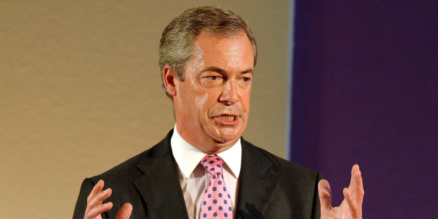 Nigel Farage, the Leader of UKIP (UK Independence Party), during his speech at the UKIP party conference, held at Central Hall in Westminster, London.