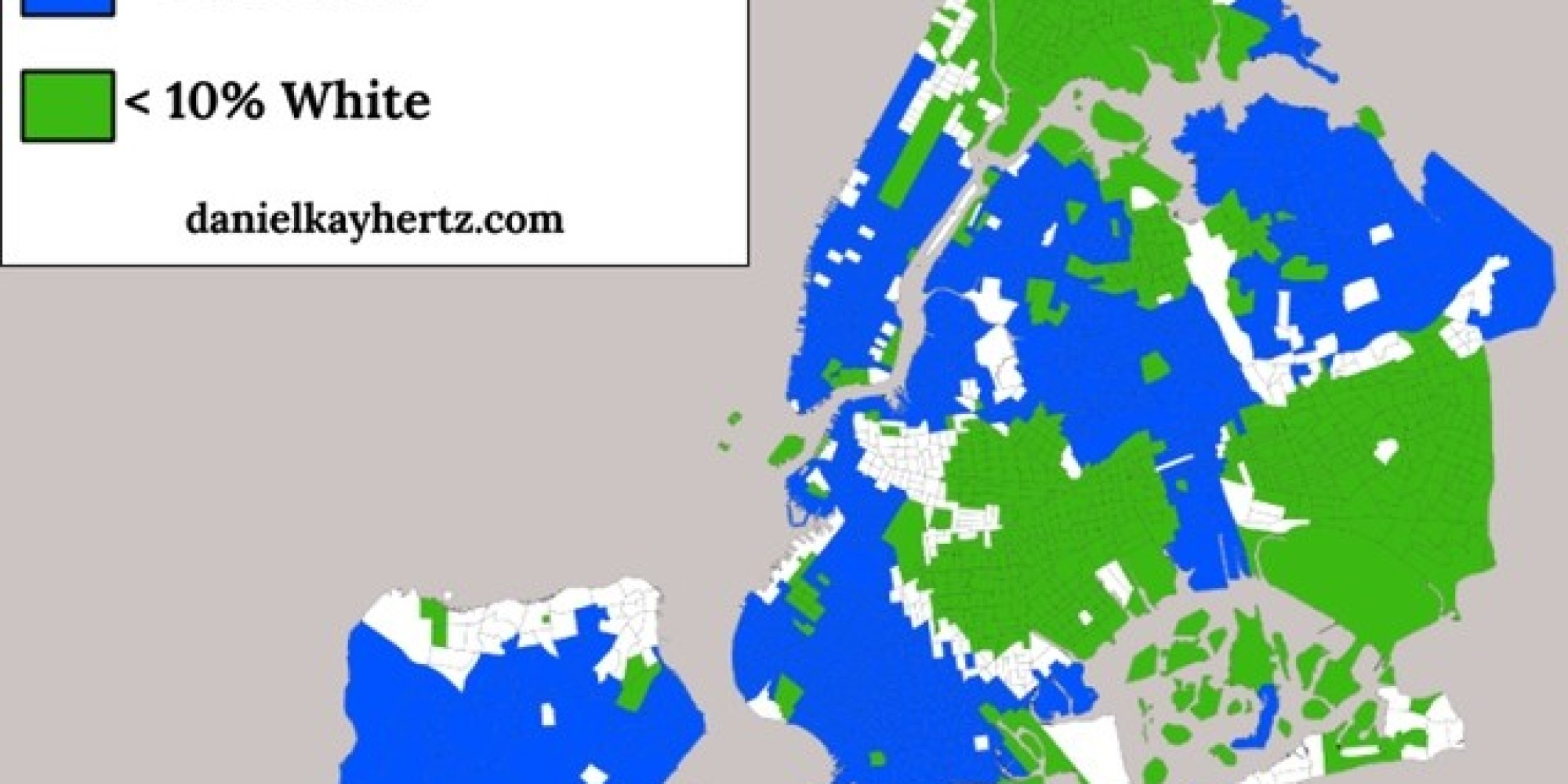 these maps show just how segregated new york city really is huffpost