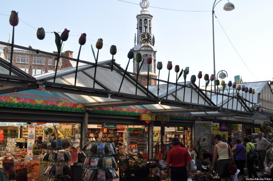 floating flower market amsterdam