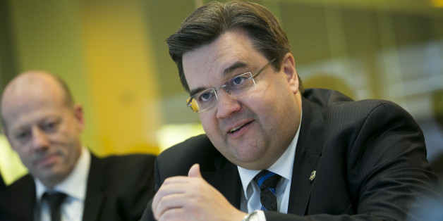 Denis Coderre, mayor of Montreal, speaks during an interview in New York, U.S., on Monday, April 14, 2014. Coderre, former Canadian immigration minister, was elected mayor of Quebec's largest city in November of last year. Photographer: Scott Eells/Bloomberg via Getty Images