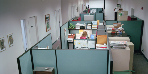 office with cubicles. Holos Via Getty Images Office With Cubicles L