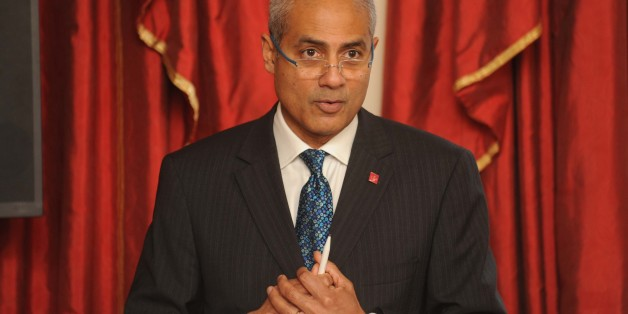 George Alagiah speaks during a seminar and reception for young people, relevant government departments, European policymakers and Prince's Trust partners, at Clarence House, London.