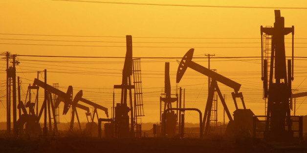 LOST HILLS, CA - MARCH 24:  Pump jacks are seen at dawn in an oil field over the Monterey Shale formation where gas and oil extraction using hydraulic fracturing, or fracking, is on the verge of a boom on March 24, 2014 near Lost Hills, California. Critics of fracking in California cite concerns over water usage and possible chemical pollution of ground water sources as California farmers are forced to leave unprecedented expanses of fields fallow in one of the worst droughts in California histo