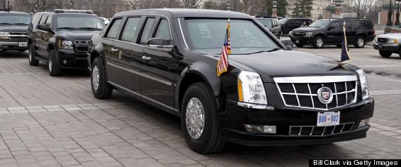 obama motorcade limousine