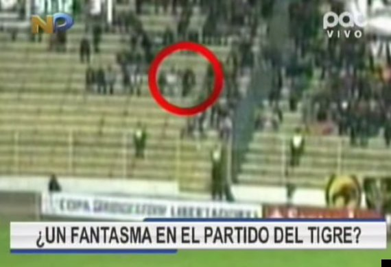 ghost at football match