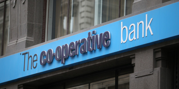 LONDON, UNITED KINGDOM - APRIL 11:  A branch of the Co-operative Bank on April 11, 2014 in London, England. The group's troubles continue as the Co-Op Bank announces a £1.3 billion loss for 2013.  (Photo by Peter Macdiarmid/Getty Images)