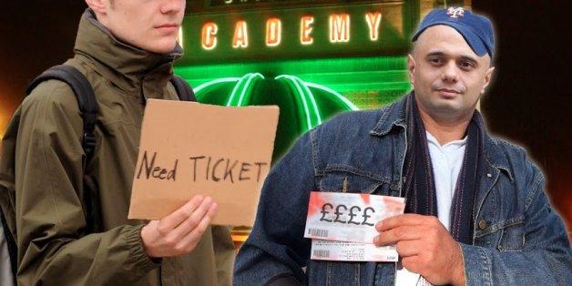 New Culture Secretary Sajid Javid mocked up as a ticket tout