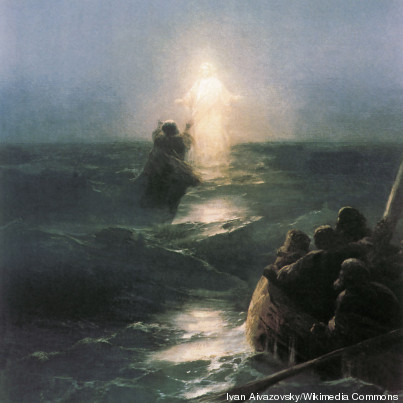 jesus marche eau