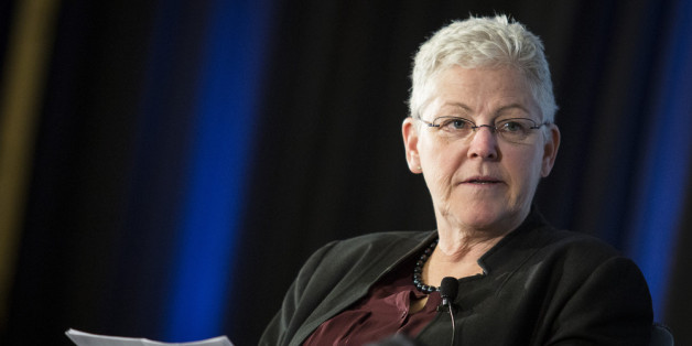EPA Administrator Gina McCarthy listens during a keynote panel on reducing greenhouse gases at the Grand Hyatt Hotel April 7 in Washington. She made appearances this week in the Southeast to build support for the agency's power plant emissions rules designed to curb global warming. (Drew Angerer/Getty Images)