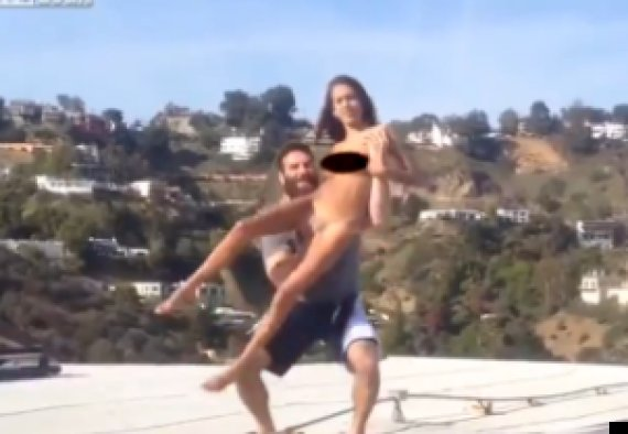 porn star thrown off roof
