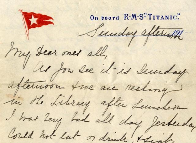 lettera titanic