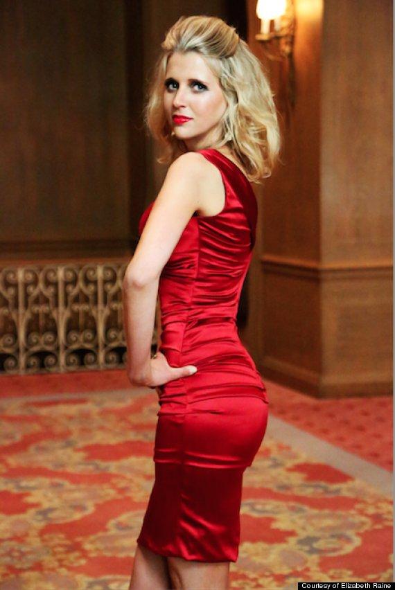 elizabeth raine red dress