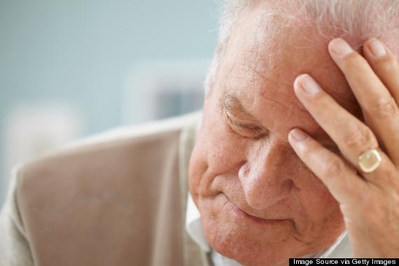 senior man sad