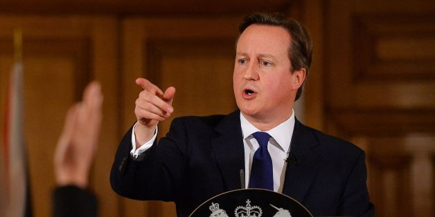"""Prime Minister David Cameron addresses the media during a press conference in 10 Downing Street, London, where he promised that """"money is no object"""" in providing relief to communities affected by floods, as he warned that the country faces """"a long haul"""" to recover from the devastation of recent weeks."""