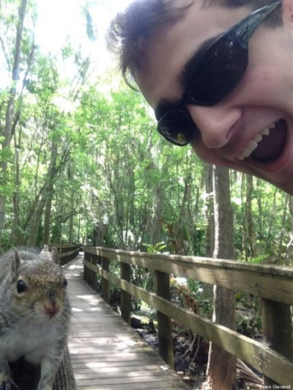 selfie scoiattolo