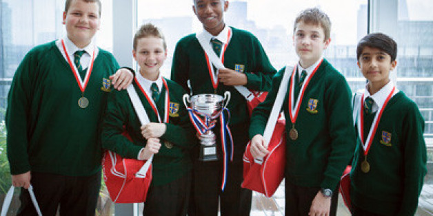 The winning St Bede's Catholic Grammar School team